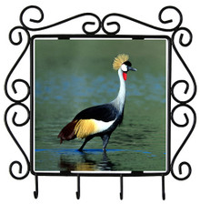 Crowned Crane Metal Key Holder