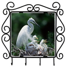 Egret Metal Key Holder
