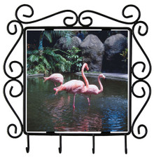 Flamingo Metal Key Holder