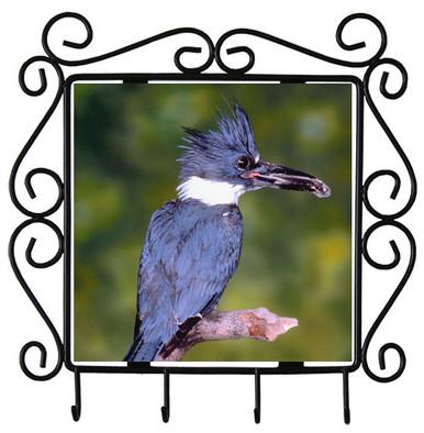 Belted Kingfisher Metal Key Holder