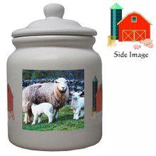 Lamb Ceramic Color Cookie Jar