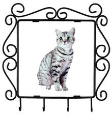 American Shorthair Cat Metal Key Holder