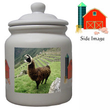 Llama Ceramic Color Cookie Jar