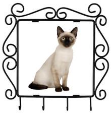 Siamese Cat Metal Key Holder