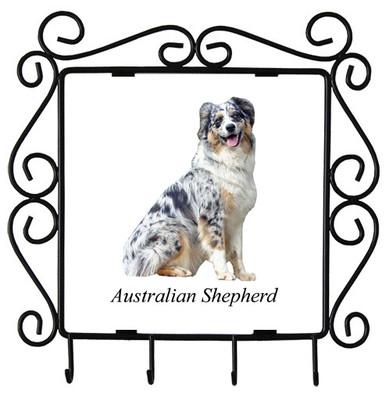 Australian Shepherd Metal Key Holder