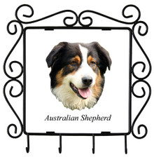 Australian Shepherd Metal Key Holder