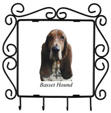 Basset Hound Metal Key Holder
