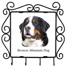 Bernese Mountain Dog Metal Key Holder