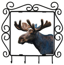 Moose Metal Key Holder
