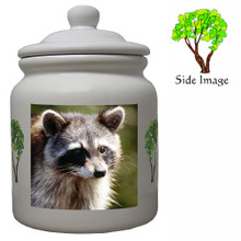 Raccoon Ceramic Color Cookie Jar