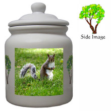 Squirrel Ceramic Color Cookie Jar