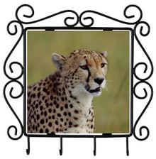 Cheetah Metal Key Holder