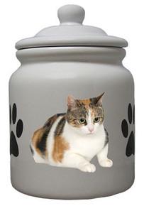 Calico Cat Ceramic Color Cookie Jar