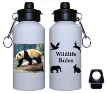 Panda Bear Aluminum Water Bottle