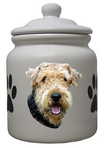 Airedale Ceramic Color Cookie Jar