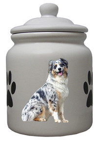 Australian Shepherd Ceramic Color Cookie Jar