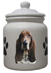 Basset Hound Ceramic Color Cookie Jar