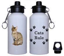 Savannah Cat Aluminum Water Bottle