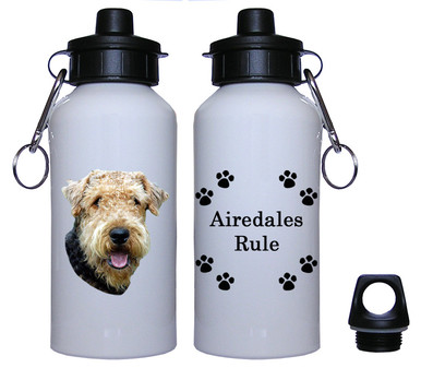Airedale Aluminum Water Bottle