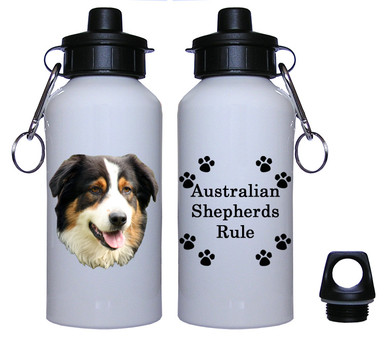 Australian Shepherd Aluminum Water Bottle