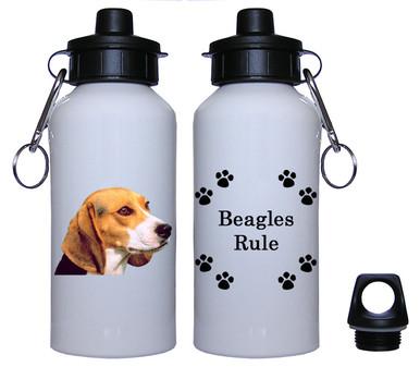 Beagle Aluminum Water Bottle
