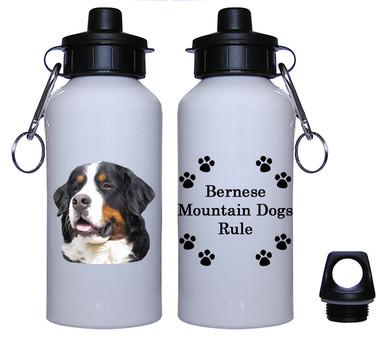 Bernese Mountain Dog Aluminum Water Bottle
