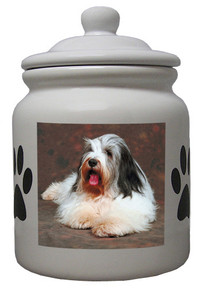 Bearded Collie Ceramic Color Cookie Jar