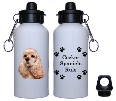 Cocker Spaniel Aluminum Water Bottle