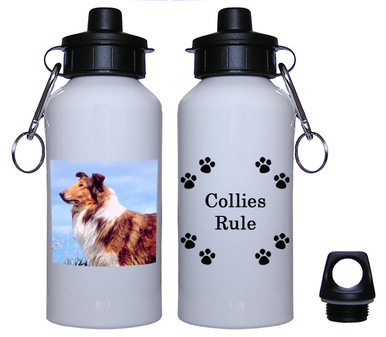 Collie Aluminum Water Bottle
