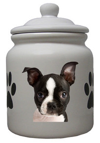 Boston Terrier Ceramic Color Cookie Jar