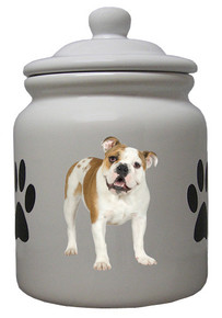 Bulldog Ceramic Color Cookie Jar