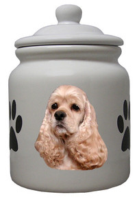 Cocker Spaniel Ceramic Color Cookie Jar