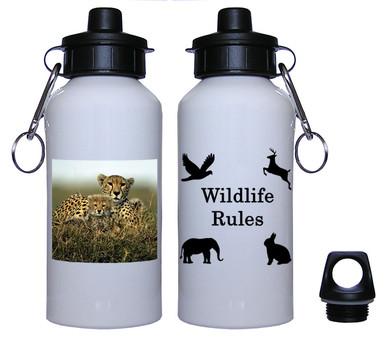Cheetah Aluminum Water Bottle