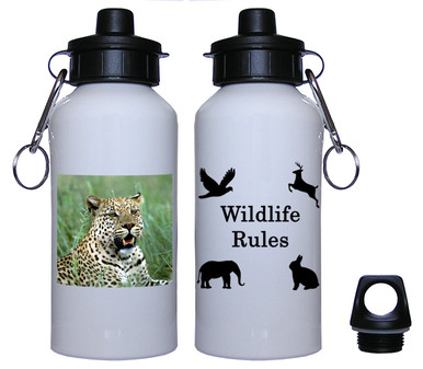 Leopard Aluminum Water Bottle
