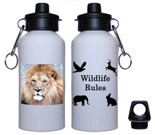Lion Aluminum Water Bottle