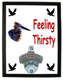 Goliath Heron Feeling Thirsty Bottle Opener Plaque