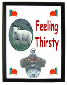 Sheep Feeling Thirsty Bottle Opener Plaque