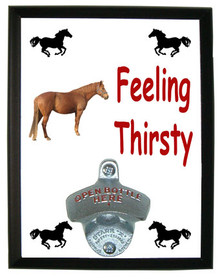 Barb Feeling Thirsty Bottle Opener Plaque