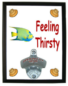 Angelfish Feeling Thirsty Bottle Opener Plaque
