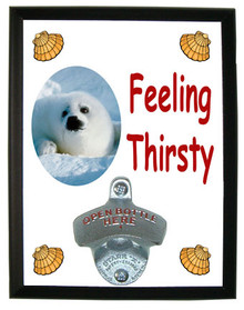 Seal Feeling Thirsty Bottle Opener Plaque