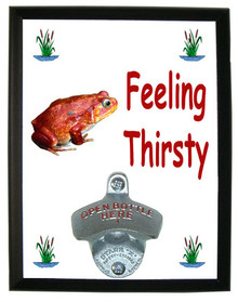 Tomato Frog Feeling Thirsty Bottle Opener Plaque