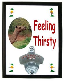Camel Feeling Thirsty Bottle Opener Plaque