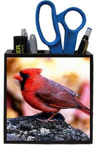 Cardinal Wooden Pencil Holder
