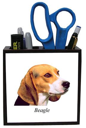 Beagle Wooden Pencil Holder