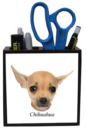 Chihuahua Wooden Pencil Holder