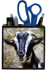 Goat Wooden Pencil Holder