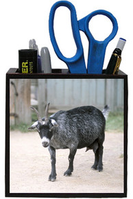 Goat Wooden Pencil Holder