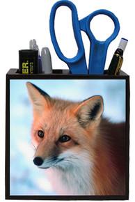 Fox Wooden Pencil Holder
