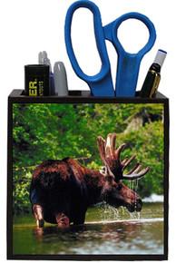 Moose Wooden Pencil Holder