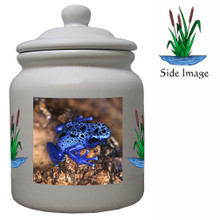 Blue Frog Ceramic Color Cookie Jar